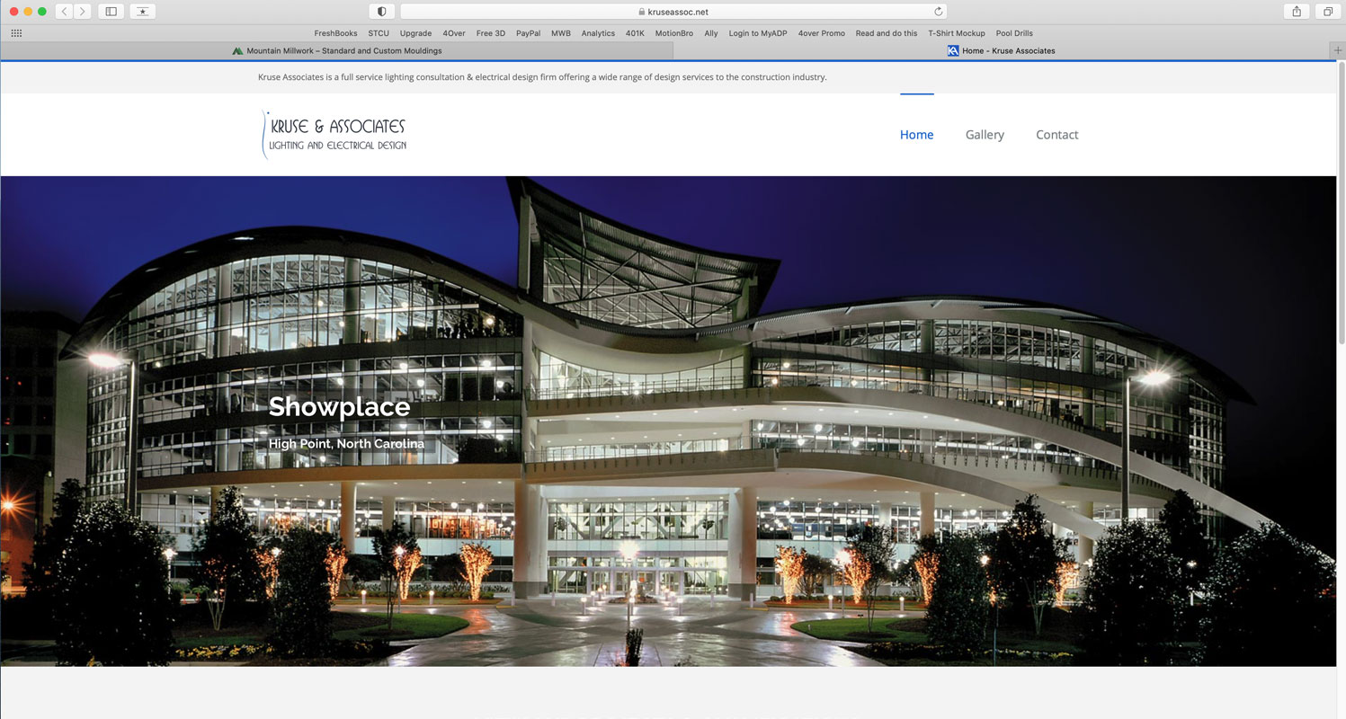 Website created for Kruse Associates