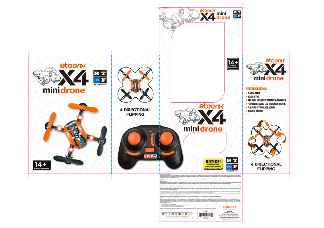 Steerix mini drone packaging