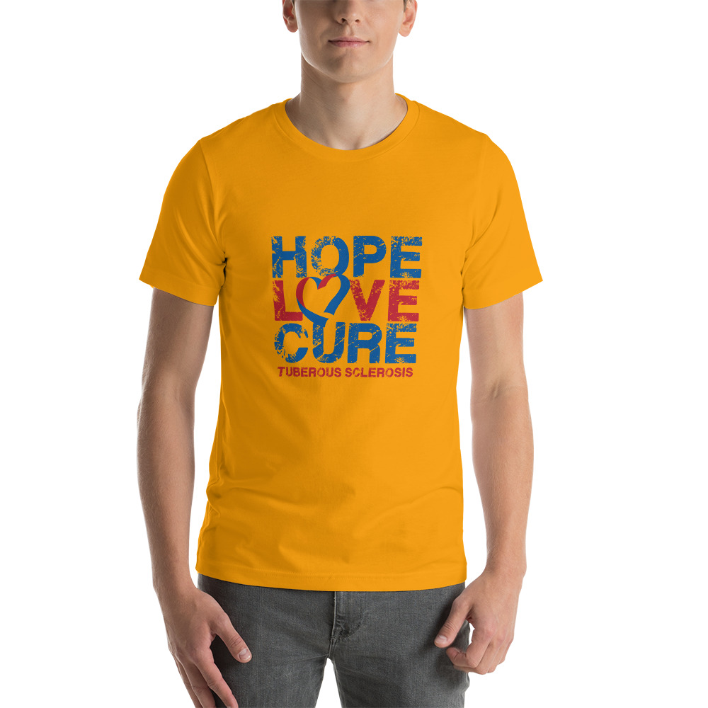Tuberous Sclerosis Complex t-shirt image gold