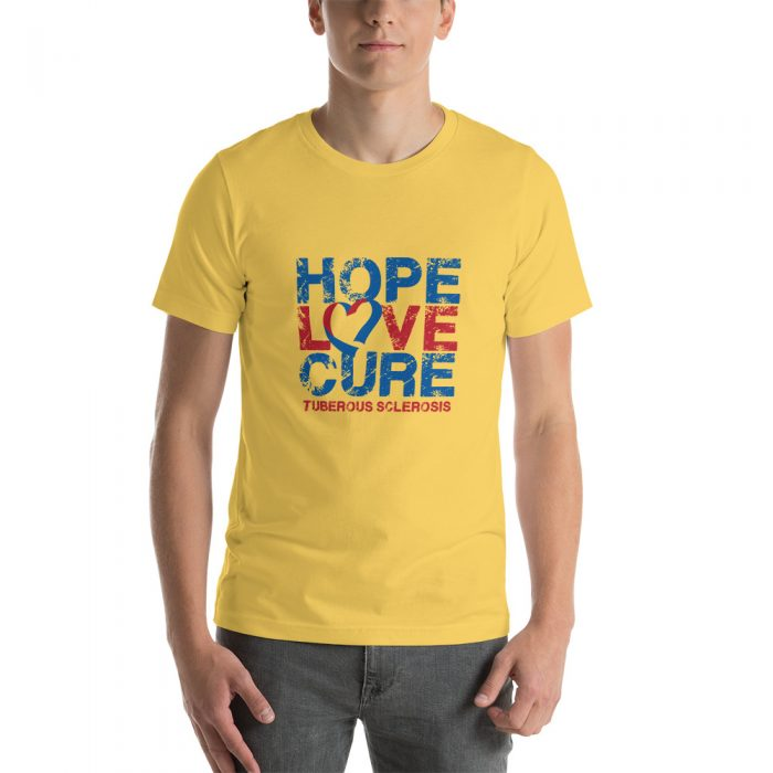 Tuberous Sclerosis Complex t-shirt image yellow