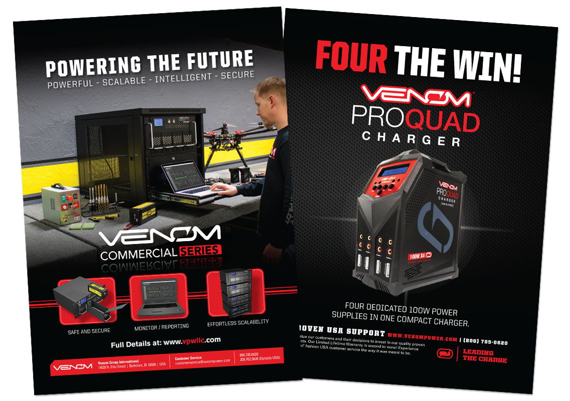 Venom Power Charger magazine ads